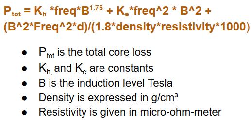 Core losses SMC materials formulas-977438-edited